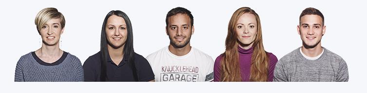 Fünf Hoststar-Mitarbeitende