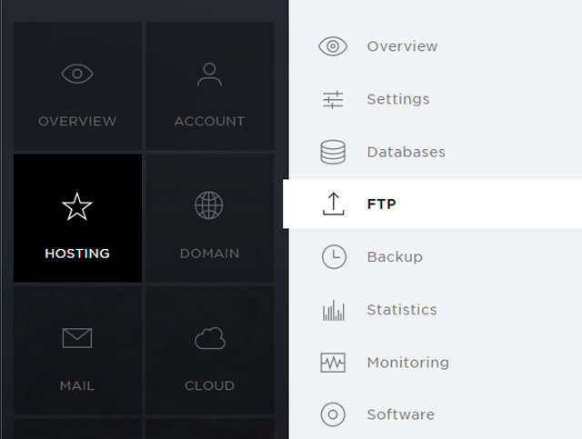 Support: Change FTP login details (Hosting) | Hoststar
