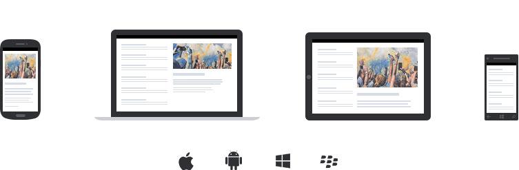 Abbildung von MailPro auf verschiedenen Geräten