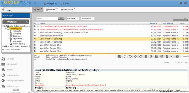 EGroupware: E-Mail