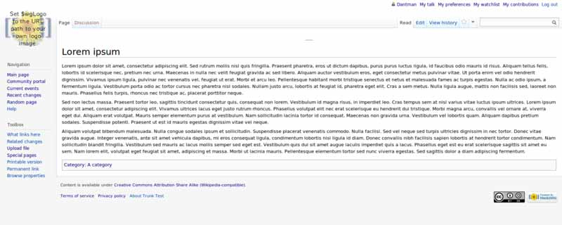 MediaWiki: Artikelansicht