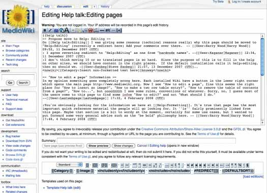 MediaWiki: Formular zur Bearbeitung von Einträgen
