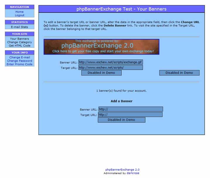 phpBannerExchange: Banner-Details