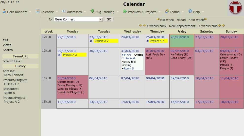 TUTOS: Kalender