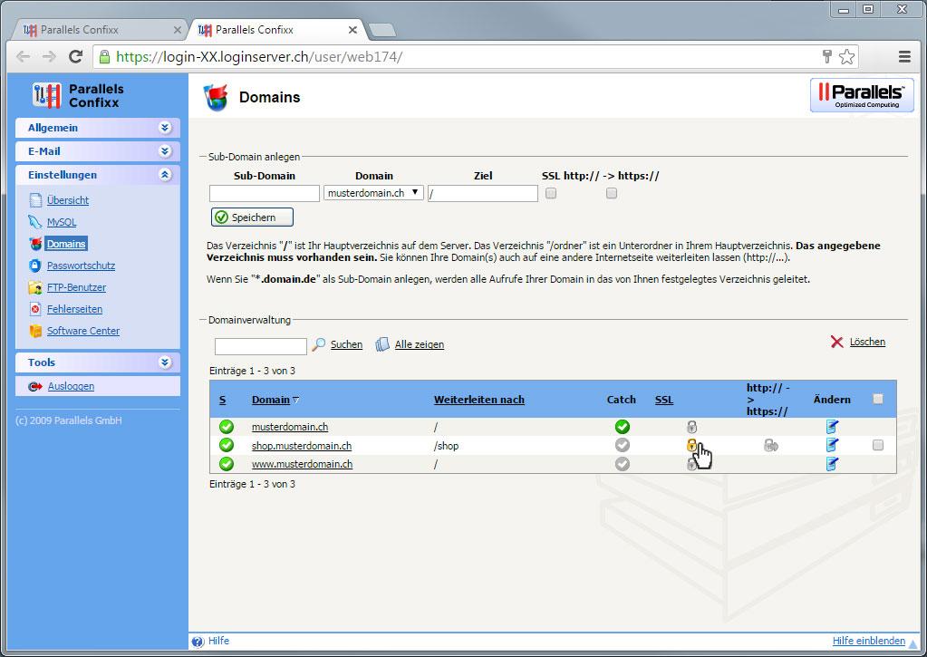 Support: SSL-Dienst installieren | Hoststar