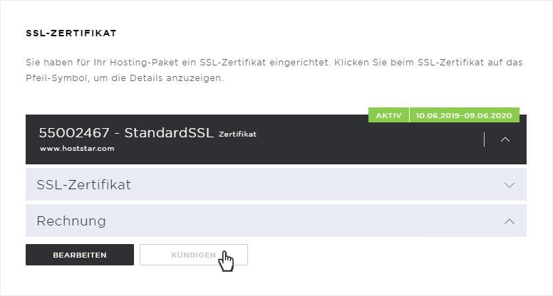 Support: SSL-Zertifikate unter Hosting verwalten | Hoststar