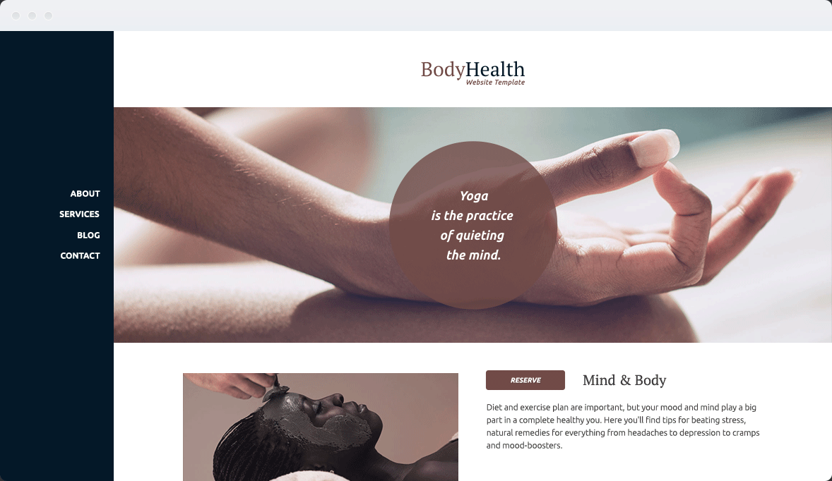 Screenshot Desktop Design Body Health 1
