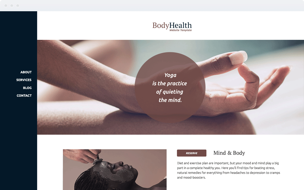 Screenshot Design Body Health