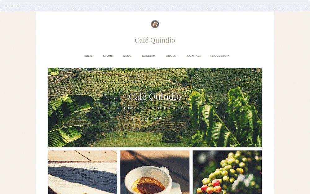 Screenshot Design Café Quindío