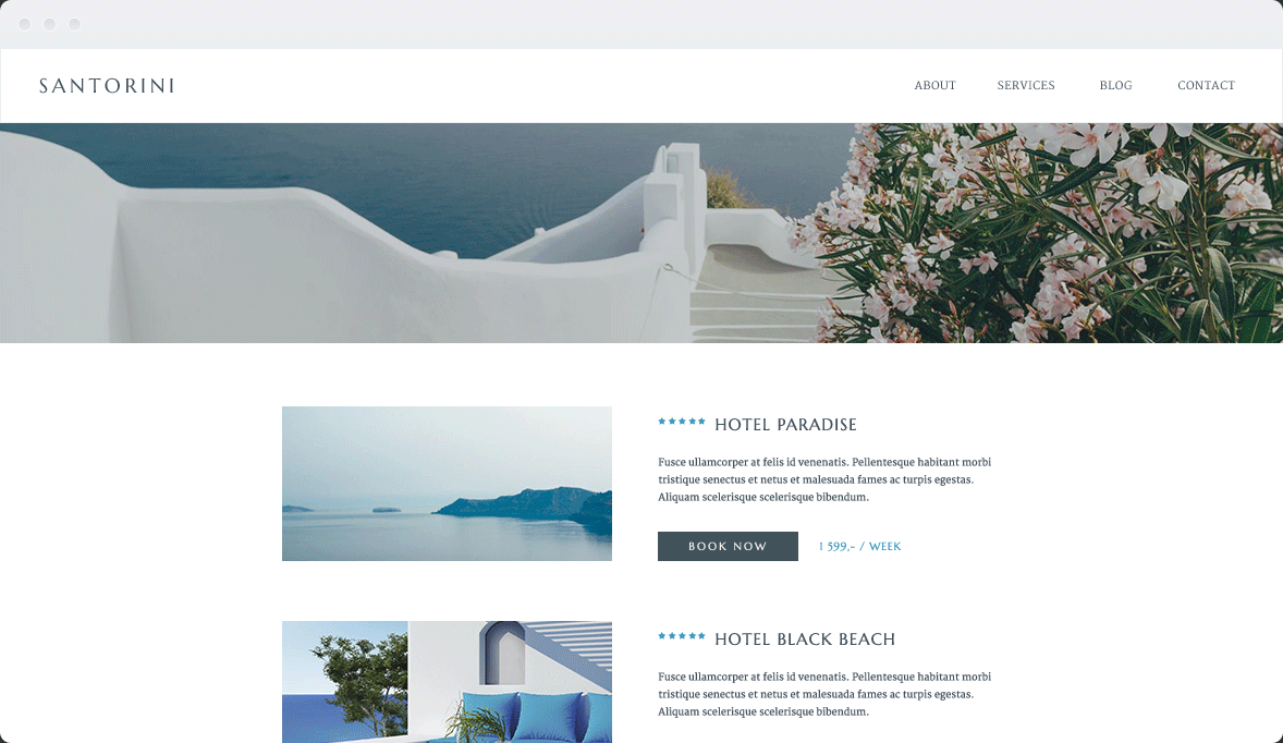 Screenshot Desktop Design Santorini 2