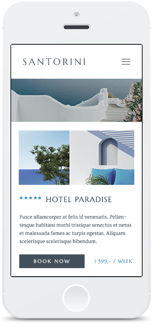 Screenshot Smartphone Design Santorini 2