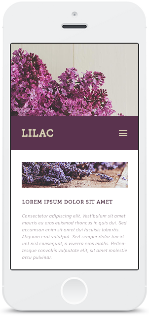 Screenshot Smartphone Design Lilac 1