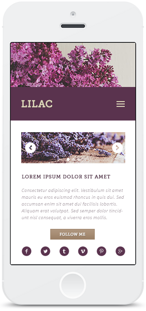 Screenshot Smartphone Design Lilac 2