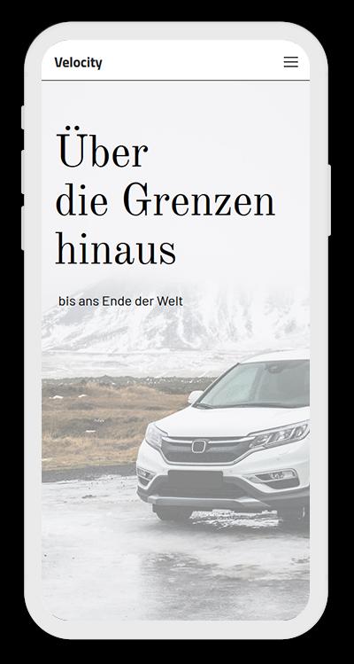Cars Template Mobile Screenshot 1