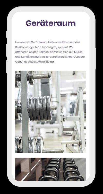 Fitness Template Mobile Screenshot 3