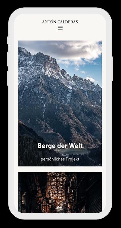 Photography Template Mobile Screenshot 1