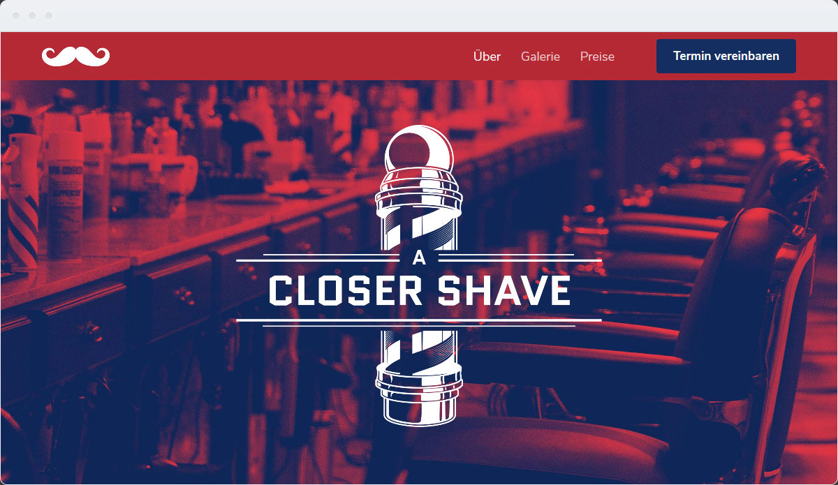 Barber Shop Template Desktop Screenshot 1