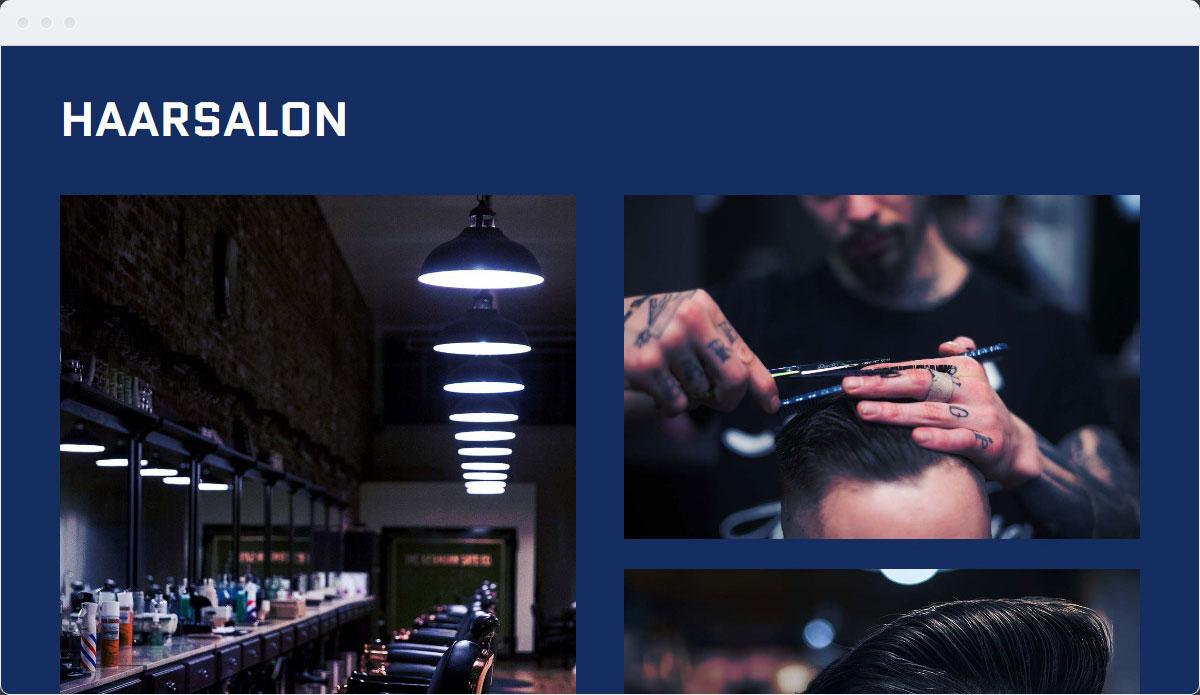 Barber Shop Template Desktop Screenshot 2