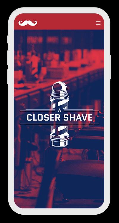 Barber Shop Template Mobile Screenshot 1