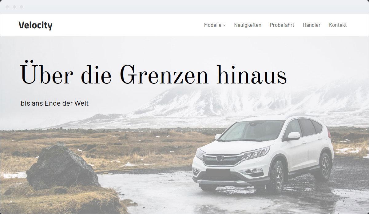 Cars Template Desktop Screenshot 1