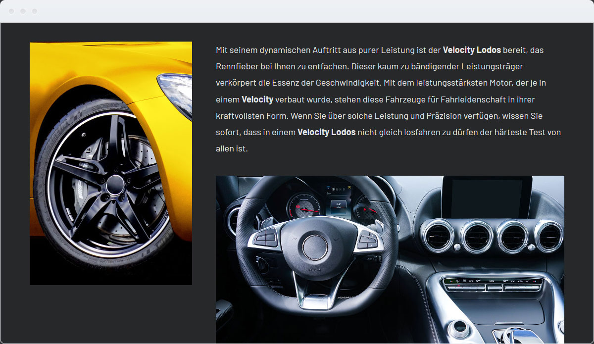 Cars Template Desktop Screenshot 3