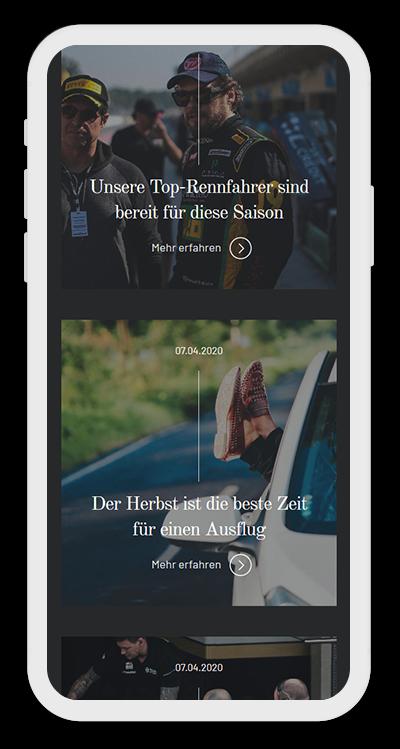 Cars Template Mobile Screenshot 2