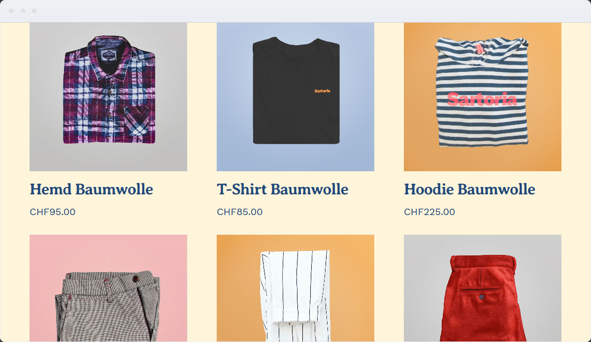 Fashion Template Desktop Screenshot 2