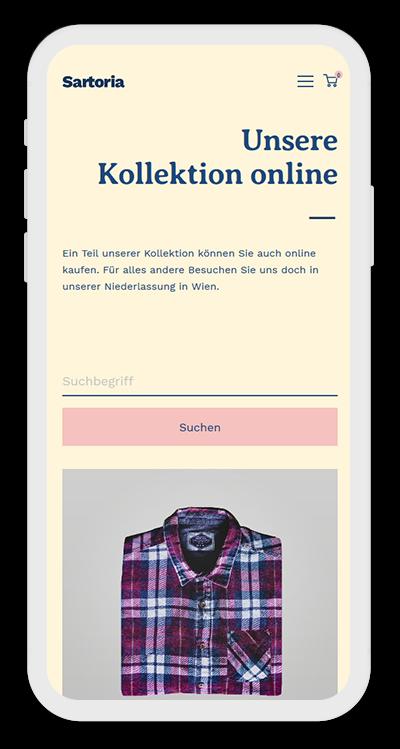 Fashion Template Mobile Screenshot 2
