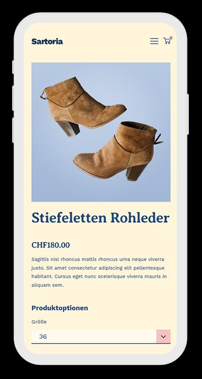Fashion Template Mobile Screenshot 3