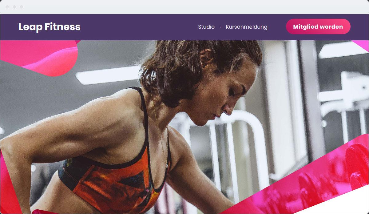 Fitness Template Desktop Screenshot 1