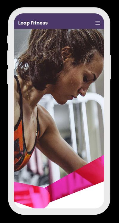 Fitness Template Mobile Screenshot 1