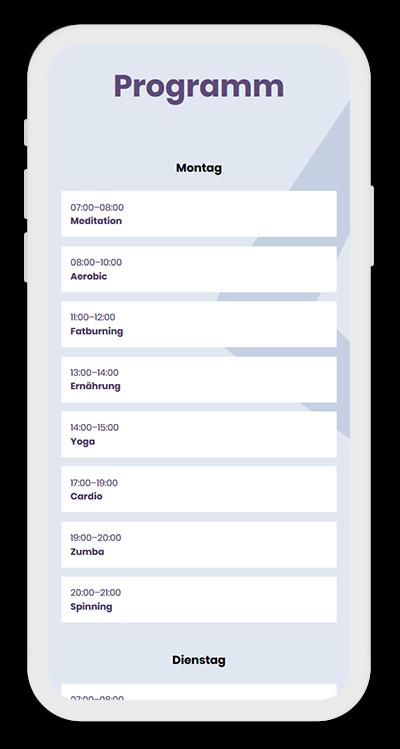 Fitness Template Mobile Screenshot 2