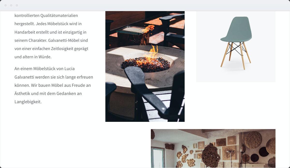 Furniture Template Desktop Screenshot 2