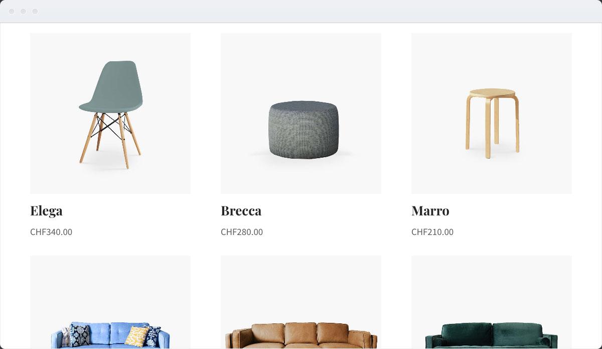 Furniture Template Desktop Screenshot 3