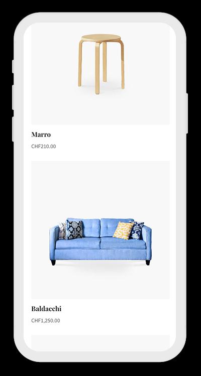 Furniture Template Mobile Screenshot 3