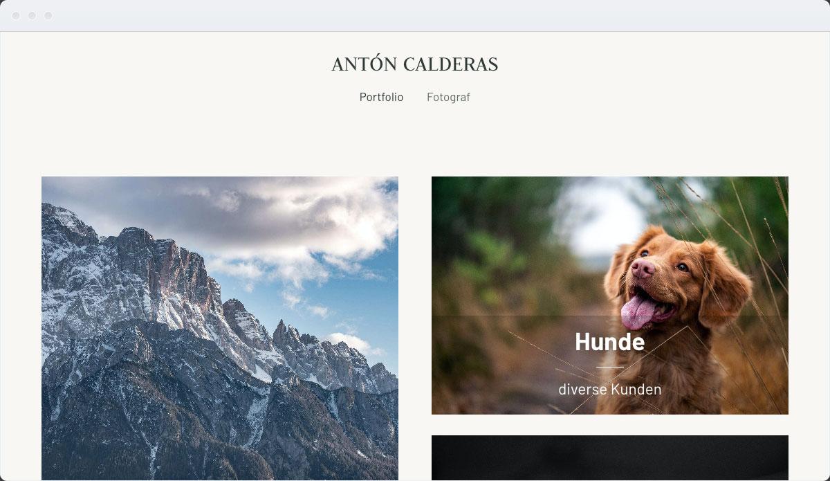 Photography Template Desktop Screenshot 1