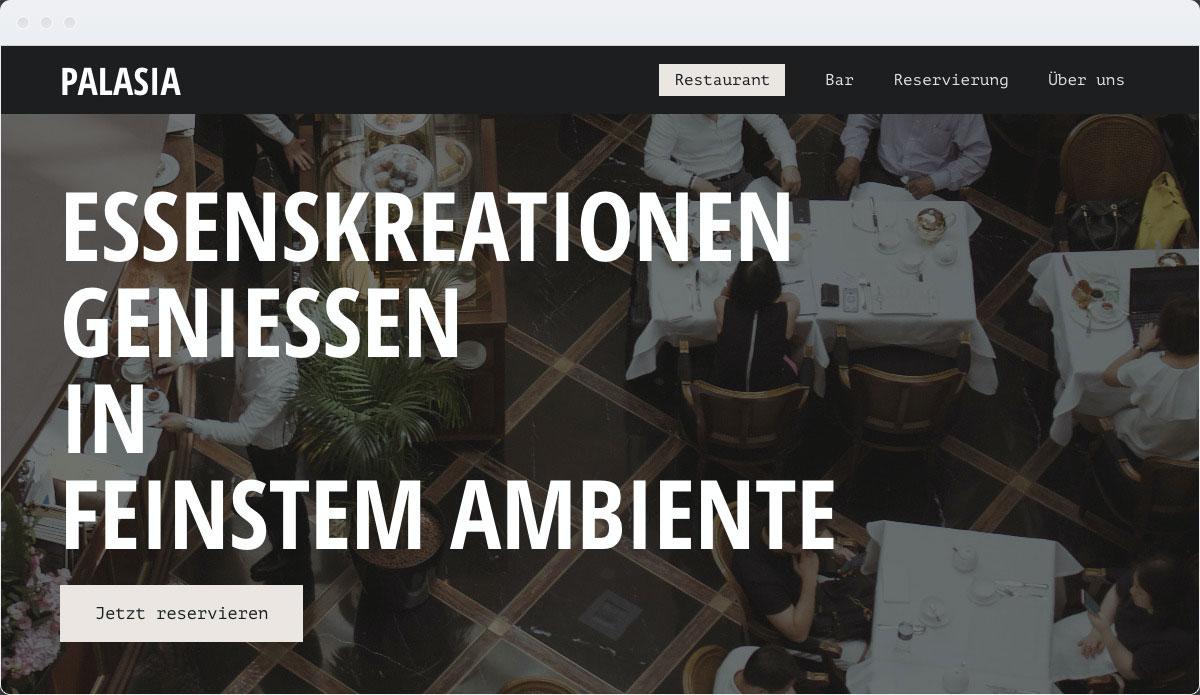 Restaurant Template Desktop Screenshot 1