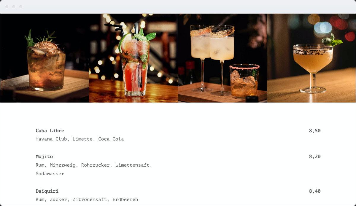 Restaurant Template Desktop Screenshot 3