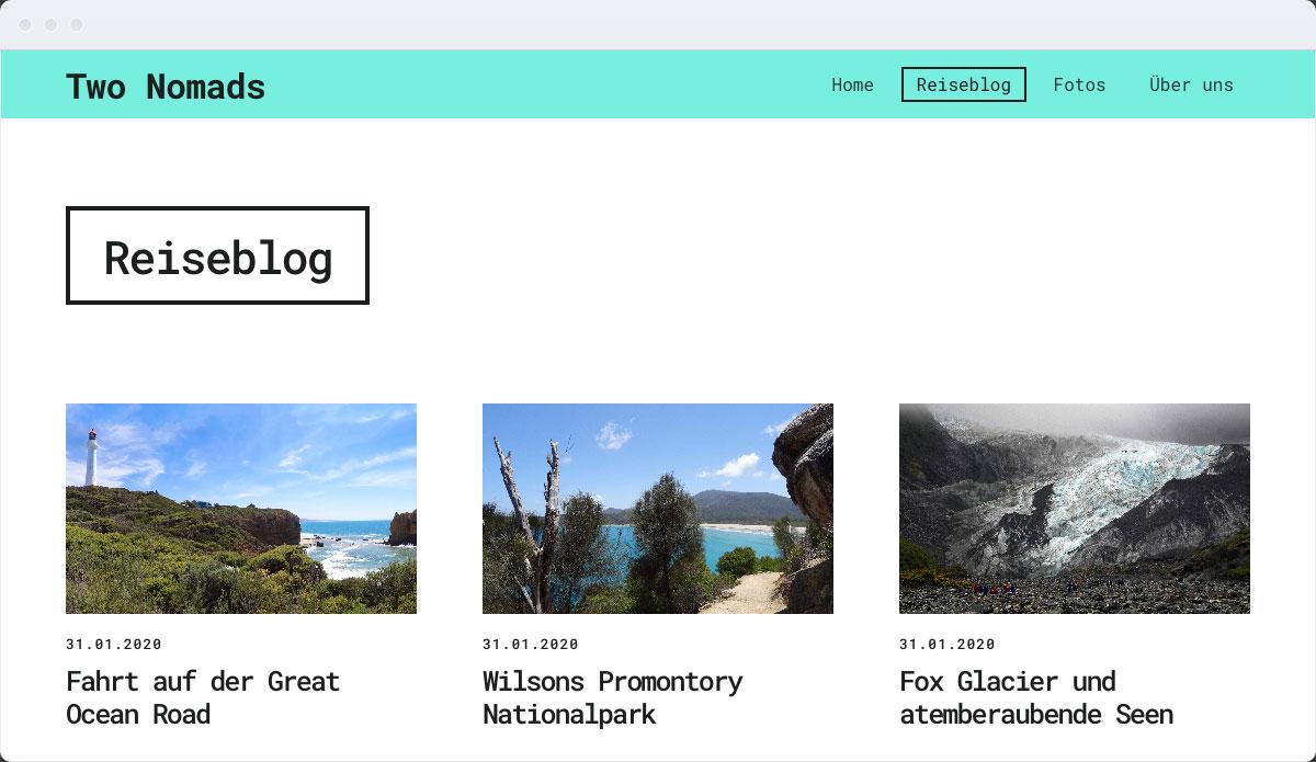 Travel Template Desktop Screenshot 2