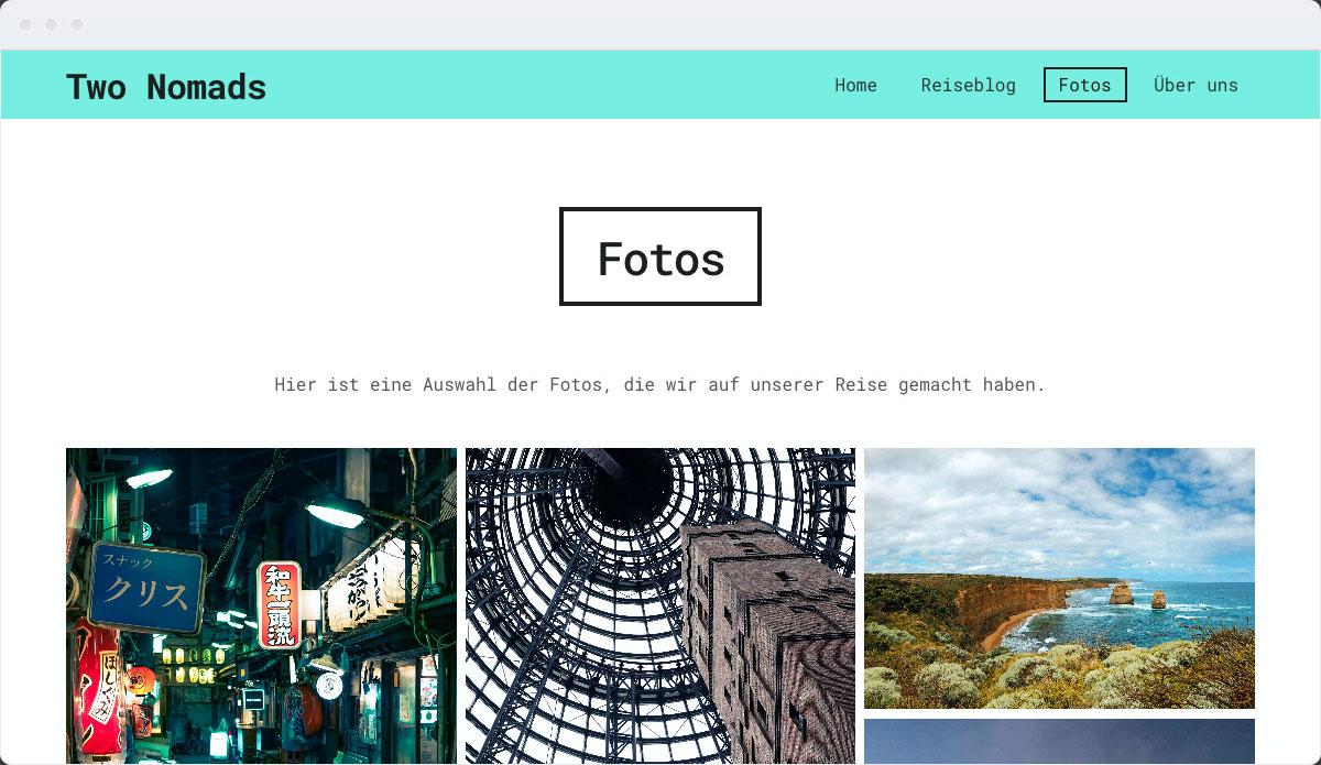 Travel Template Desktop Screenshot 3