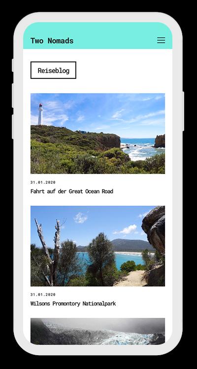 Travel Template Mobile Screenshot 2