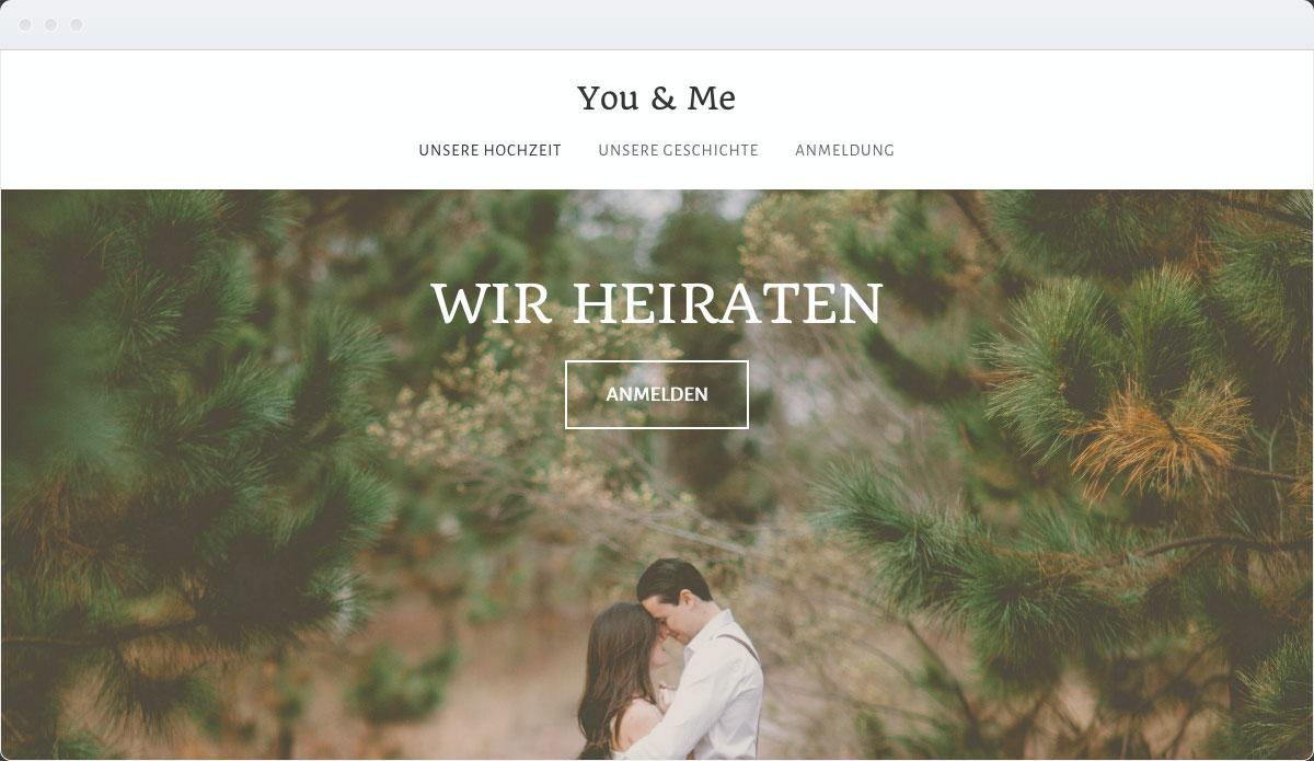 Wedding Template Desktop Screenshot 1