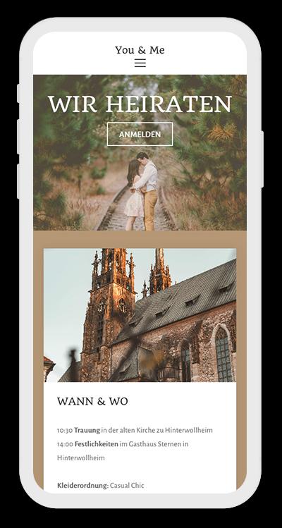 Wedding Template Mobile Screenshot 1