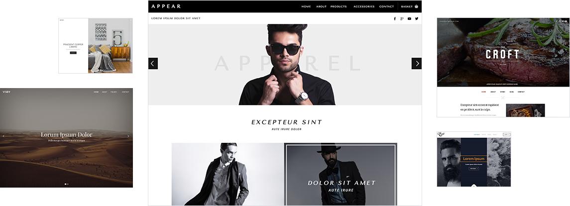 7 Websites mit verschiedenen Designs